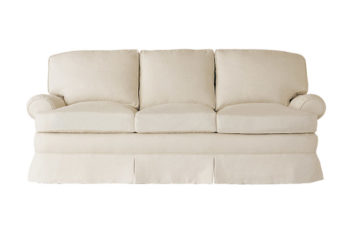 upholstered designer sofa