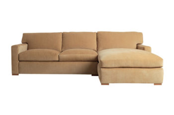 upholstered custom couch and ottoman
