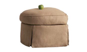 upholstered designer ottoman
